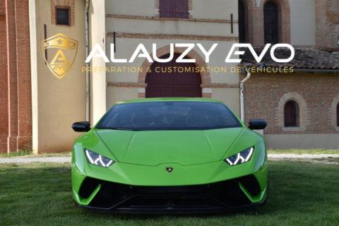 Film de protection pour une Lamborghini Huracan Performante