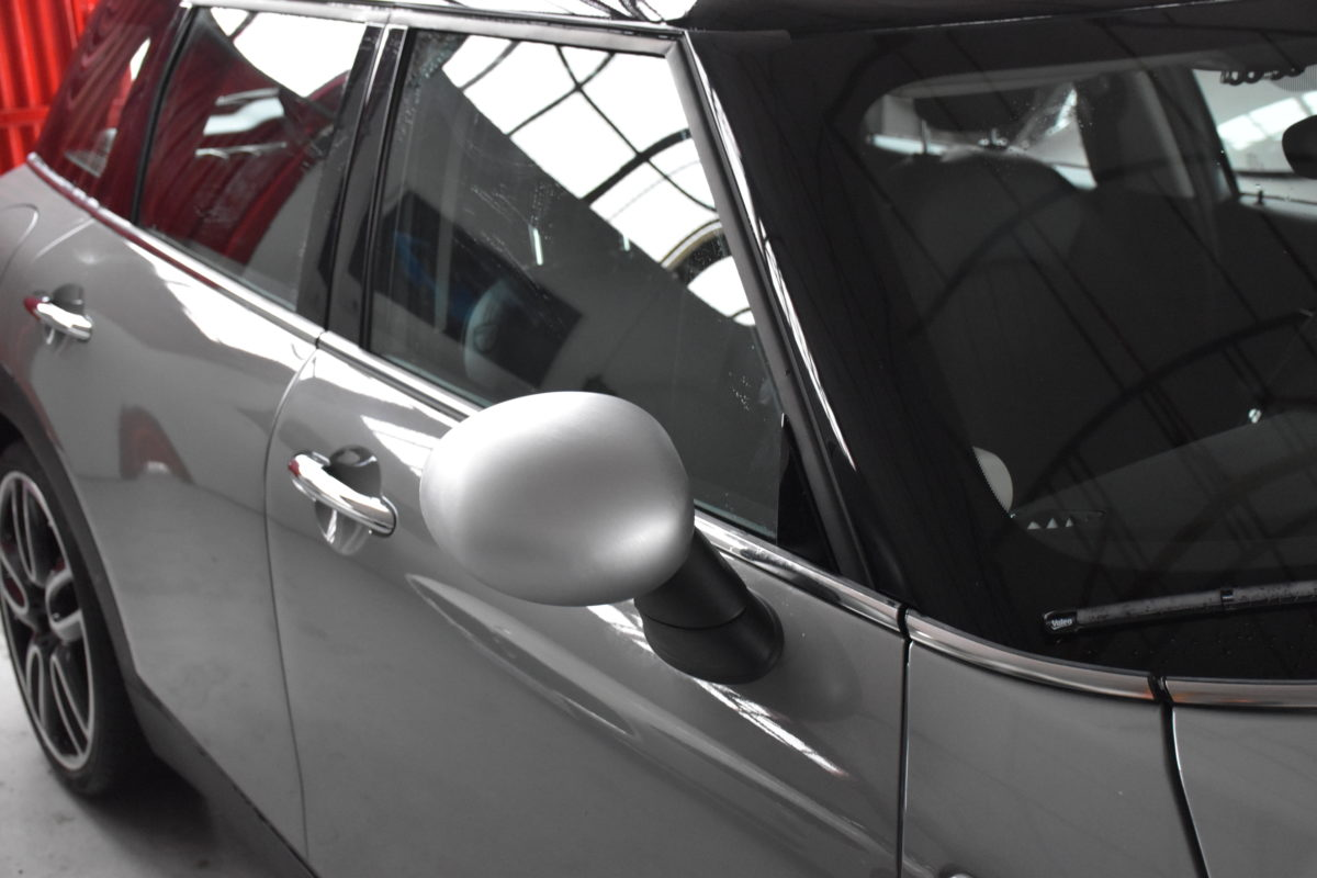 Mini ClubMan Covering Wrapping Avery Dennison Personnalisation Carbone ALAUZY EVO TOULOUSE Midi-Pyrénées 31