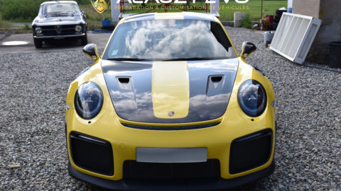 Protection face avant en Film de protection Porsche 991 GT2 RS