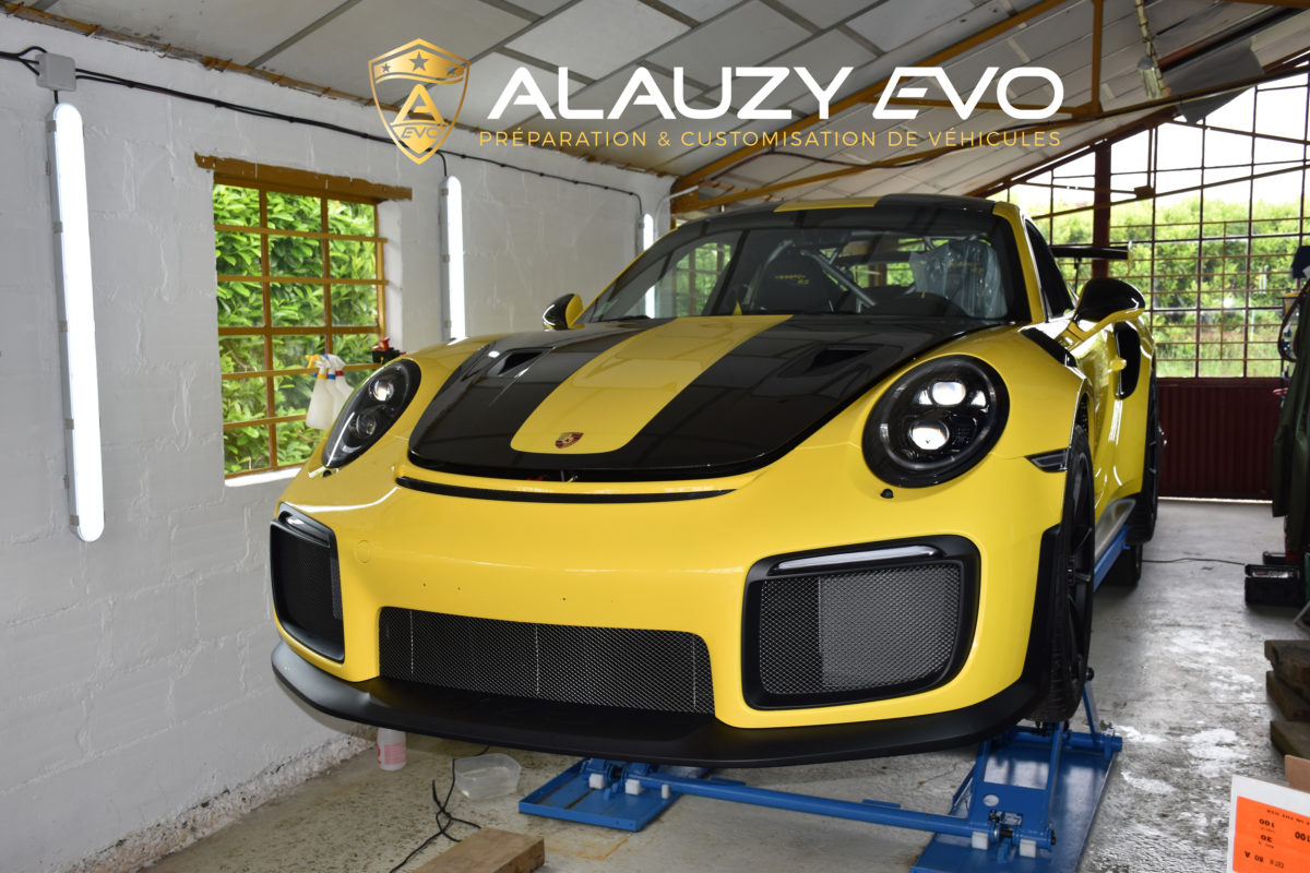 Porsche GT2RS ALAUZY EVO TOULOUSE Covering Film de protection Céramique