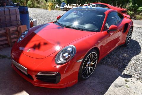 Protection Film sur la Face avant de cette radicale Porsche 991 Turbo S