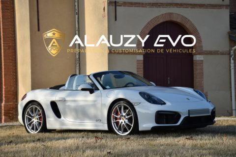 Protection carrosserie PremiumShield sur une Porsche Boxster GTS 981 (Toulouse)