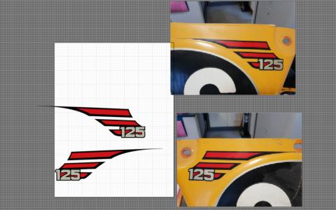 Création de logo sur mesure pour une ancienne Moto Cross de collection