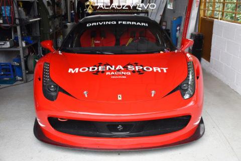 Ferrari 458 Challenge customisée pour Modena Sport Racing Toulouse